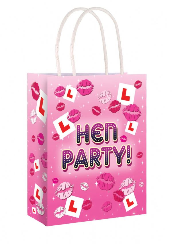 HEN PARTY L PLATE BAGS perfect for Hen Weekends Games Accessories & Inflatables